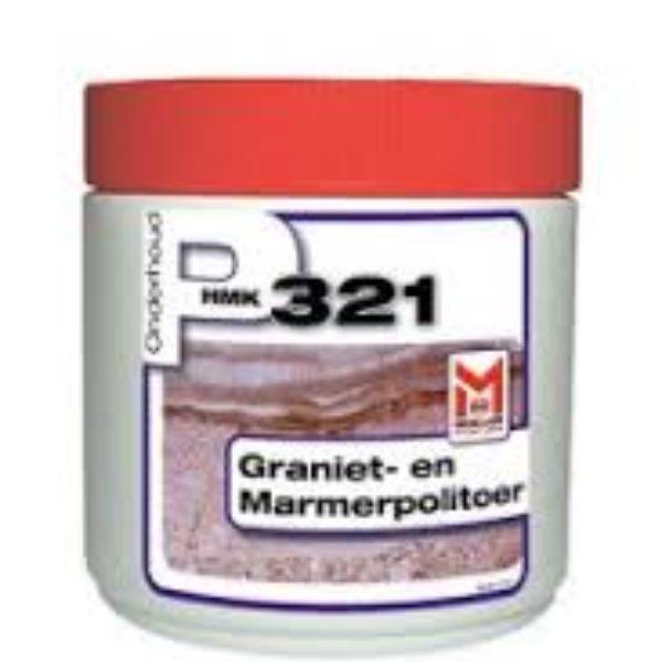 HMK P321 Zwart - Graniet- en marmerpolitour 500ml pot zwart